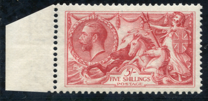 1918 Bradbury 5s rose red,SG.416