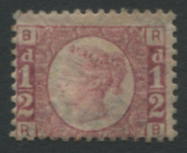 1870 ½d rose-red Pl.9, Mint example