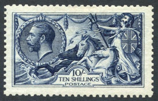 1913 Wterlow 10s indigo blue