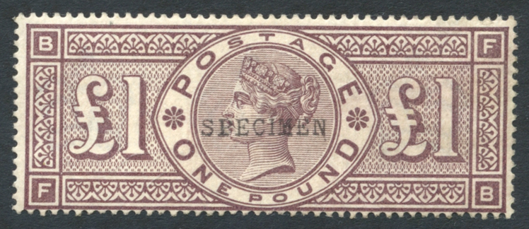 1884 Wmk Imperial Crowns £1 brown-lilac, SG.185s