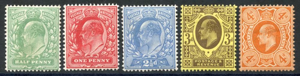 1911 Harrison perf 15x14, SG.279/286 (5)