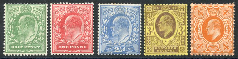 1911 Harriosn, Pl.14, SG.267/278, (5)