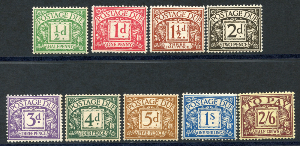 1924-31 Postage Due set, SG.D10/18. (9)