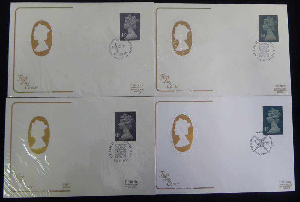 1983-92 High Value Defintive First Day Covers