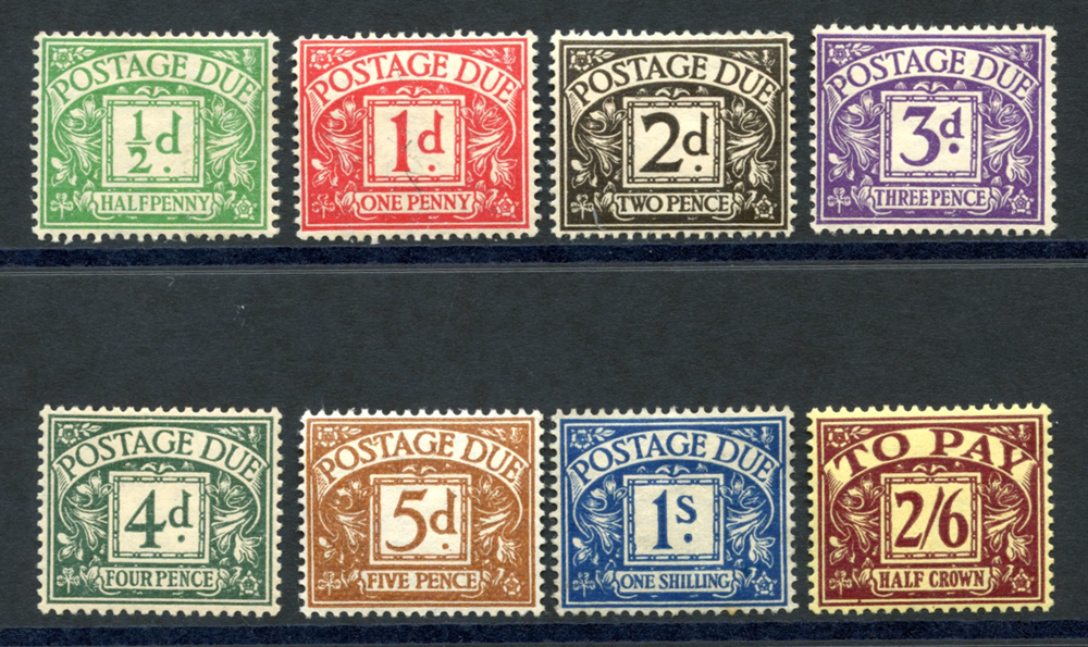 1937-38 Postage Due set, SG.D27/D34. (8)