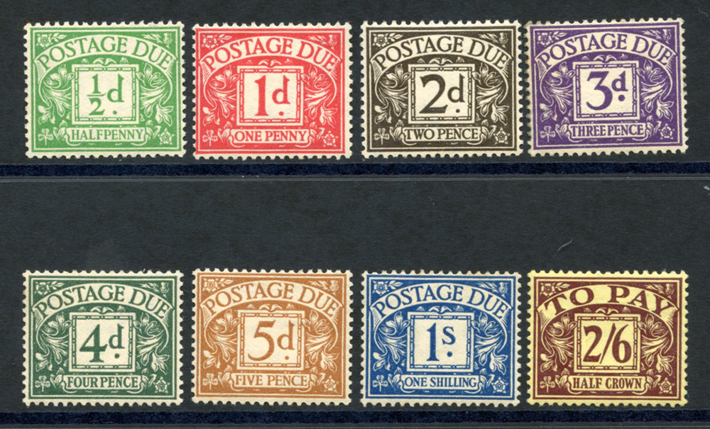 1936-37 Postage Due set, SG.D19/26. (8)