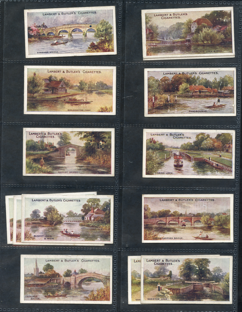 1907 Lambert & Butler The Thames from Lechdale to London, (22) Cat. £154