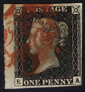 1840 1d black - Plate 1b EA