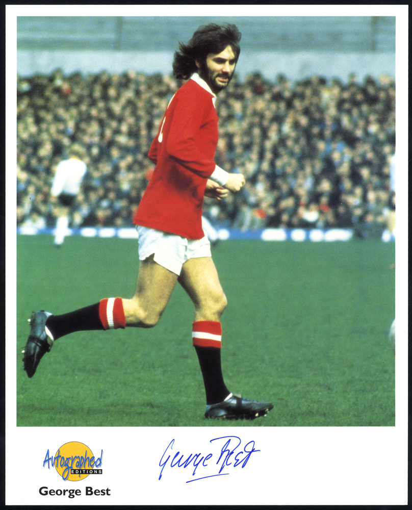 BEST, GEORGE (Footballer) signed photograph