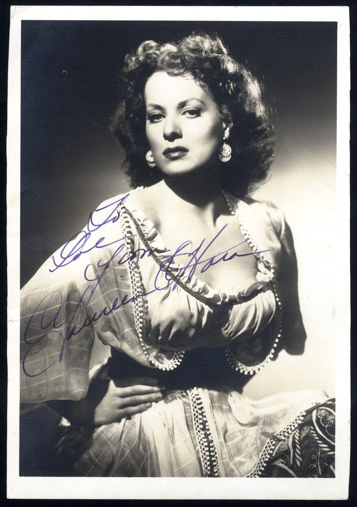 O'HARA, MAUREEN 1920-2015 (Irish born American Actress & Singer) signed photgraph