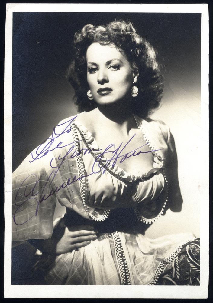 O'HARA, MAUREEN 1920-2015 (Irish born American Actress & Singer) signed photgraph