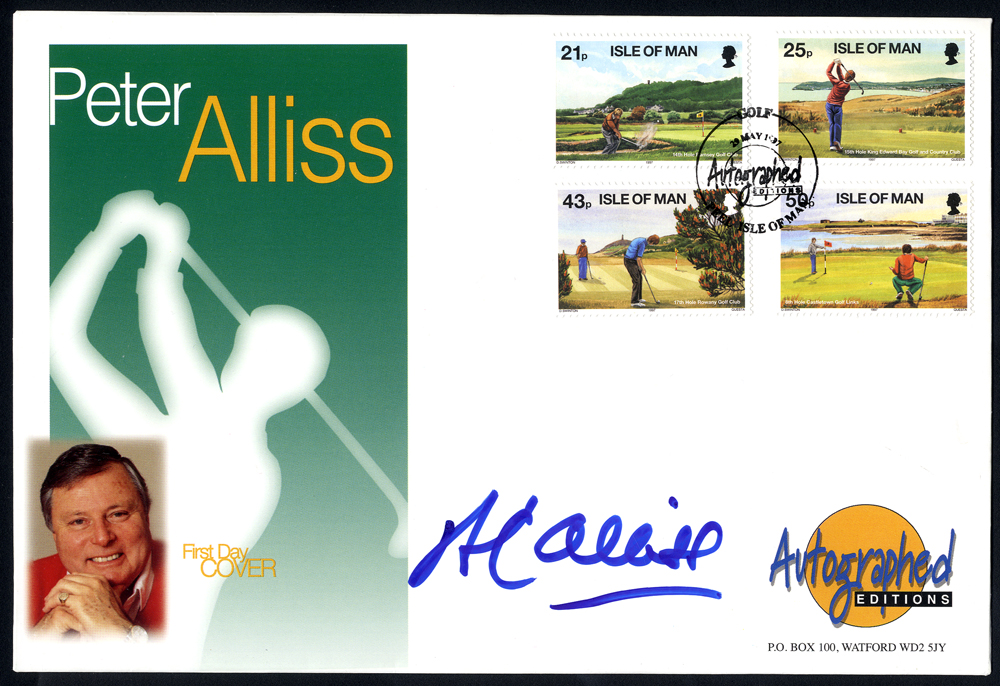 ALLISS, PETER (Professional Golfer, Television Presenter & Commentator) signature on first day cover