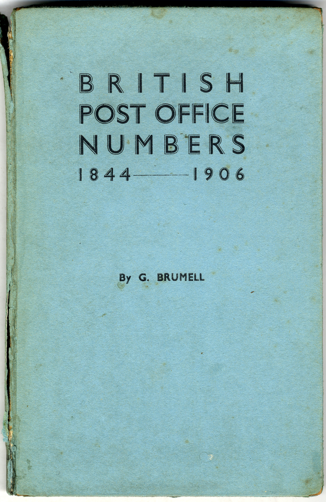 BRITISH POST OFFICE NUMBERS by G. Brumell
