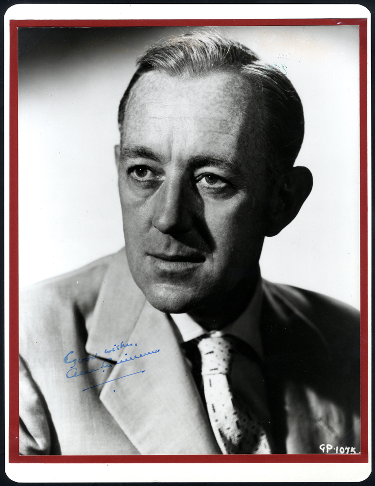 GUINESS, ALEC 1914-2000 (English Actor & Academy Award Winner) signed photograph