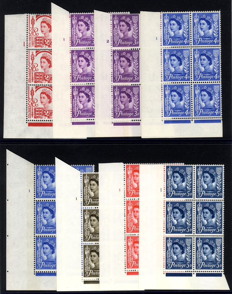 JERSEY 1964-68 Cylinder blocks of six UM (8 different)
