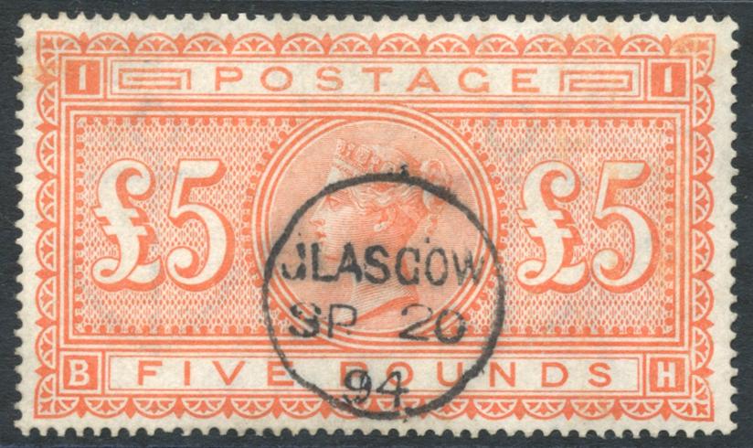 1867-83 £5 orange, SG.137