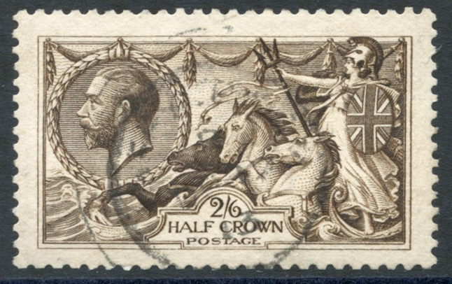 1913 Waterlow 2/6d sepia brown, SG.400, Cat. £150
