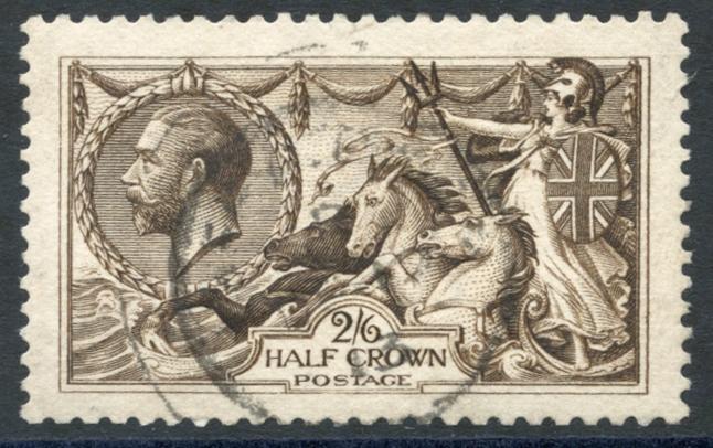 1913 Waterlow 2/6d sepia brown, SG.400, Cat. £150