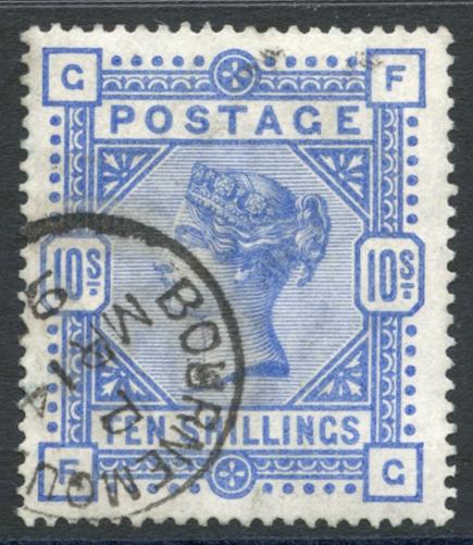 1883 10s ultramarine, SG.183