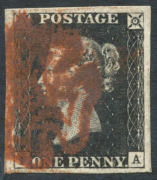 1840 1d black- Plate 4 IA