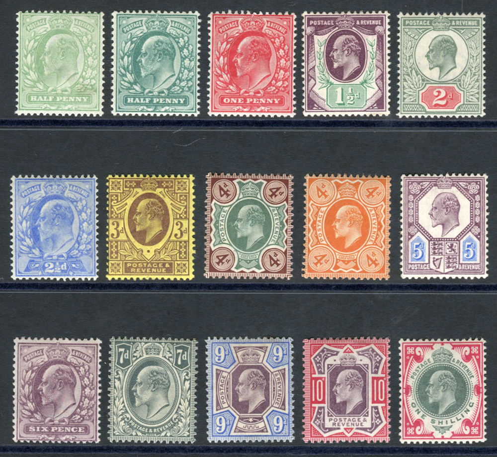 1902 DLR basic set of fifteen - UNMOUNTED MINT
