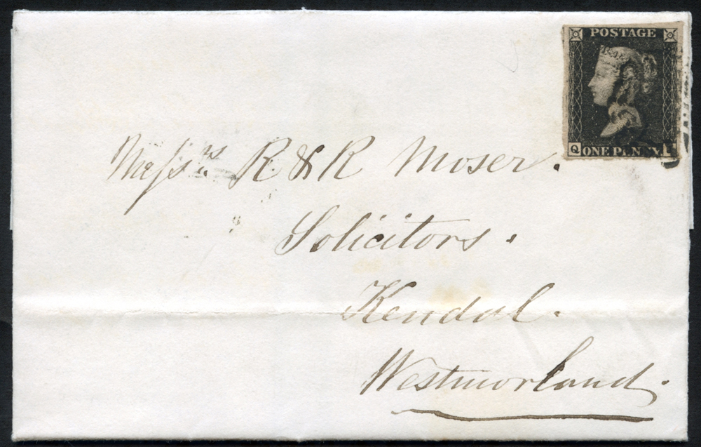 1841 Dec 22nd entire letter from Liverpool to Kendal, Westmorland, franked Pl.7 QJ