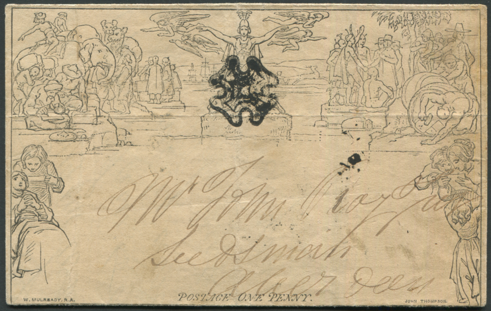 1841 One Penny Letter Sheet from Aberchirder to Aberdeen