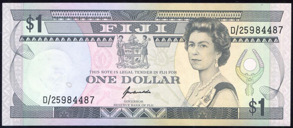 Fiji 1993 $1 multi-colour/Suvan Market (D/25984487), UNC, P.89a.