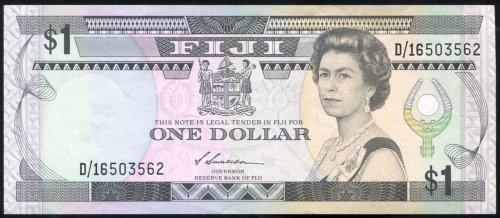 Fiji 1987 $1 multi-colour/Suva Market (D/16503562), UNC, P.86a.