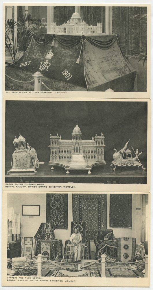1924 British Empire Exhibition series of six postcards by Raphael Tuck & Sons Ltd