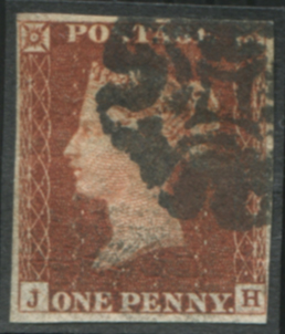 1841 1d red - Plate 14 JH