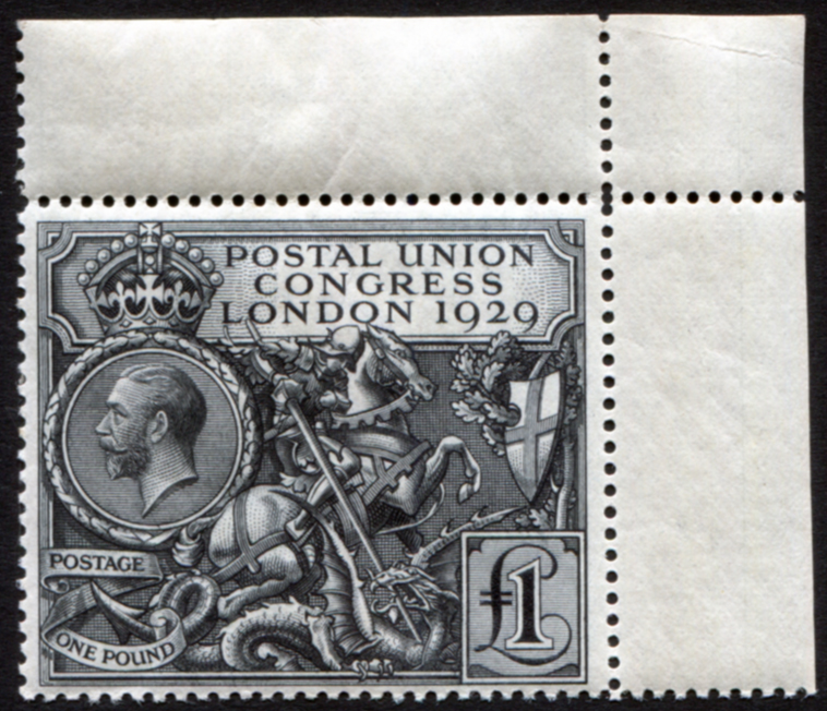1929 £1 PUC - corner marginal, UNMOUNTED MINT