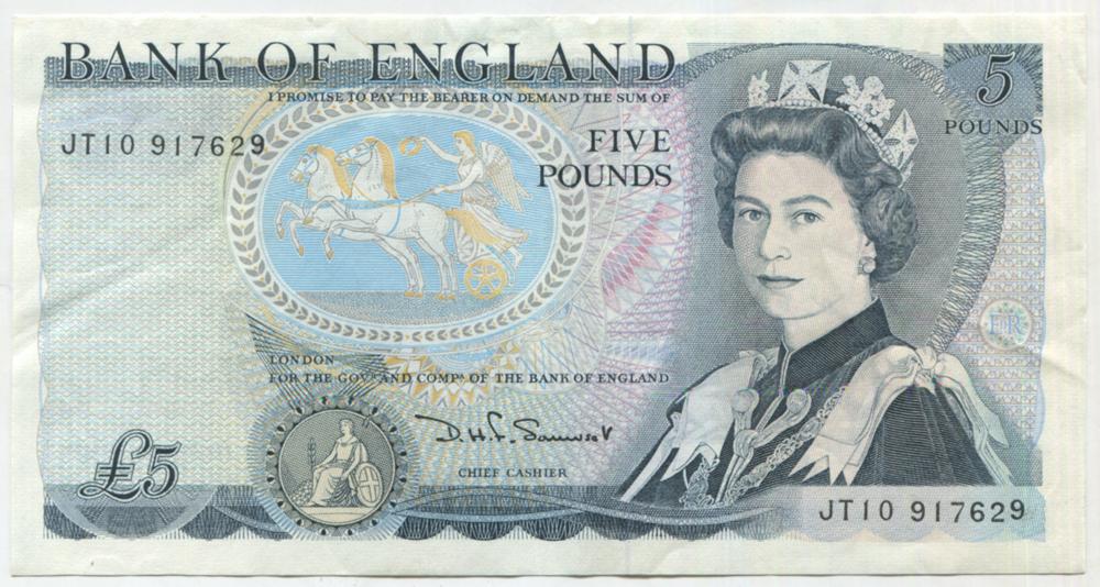 1980 Somerset £5 Wellington