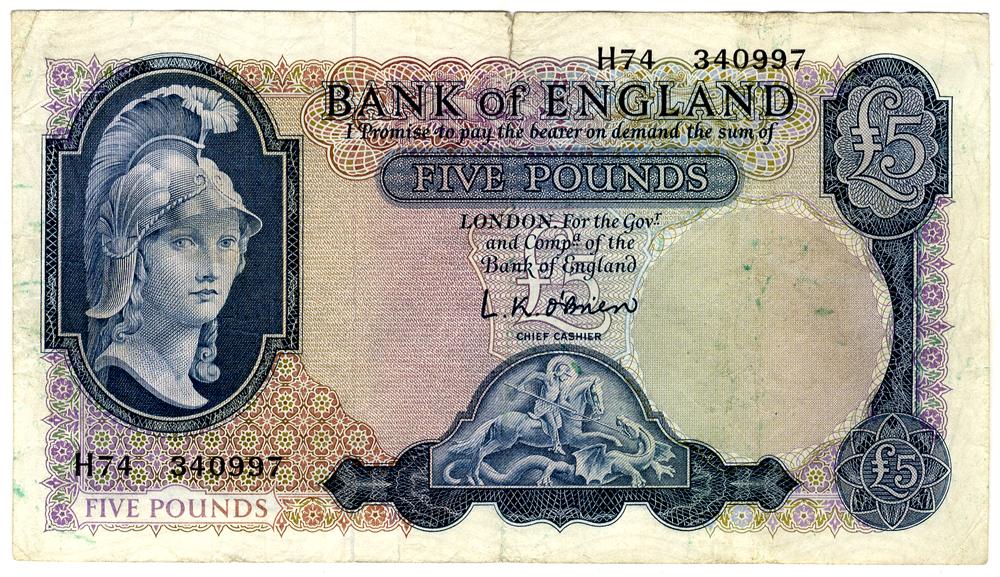 1961 O'Brien £5 Lion with Key