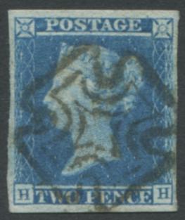 1841 2d blue - Plate 3 HH