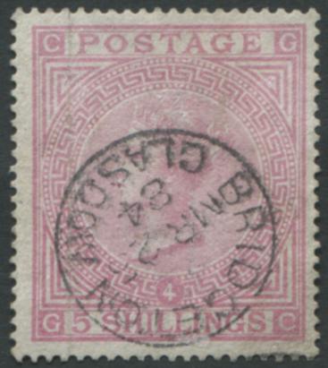 1867-83 Wmk Anchor 5s rose - superb USED