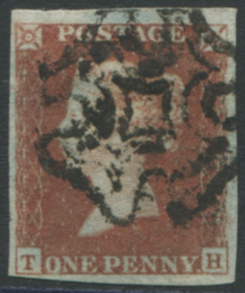 1841 RED FROM BLACK PLATES - Plate 9 TH