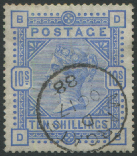 1883 10s ultramarine, superb used with a Margate c.d.s.