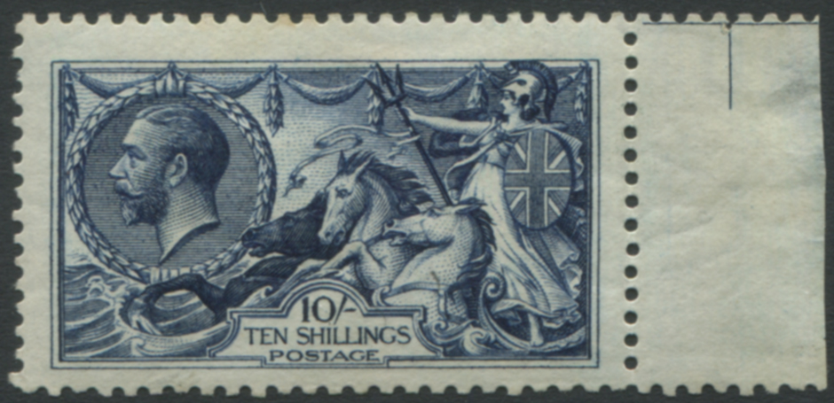 1913 Waterlow 10s indigo blue