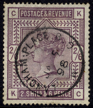 1883 2/6d lilac KC, superb used with a 'Langham Place JAN.5.98' c.d.s