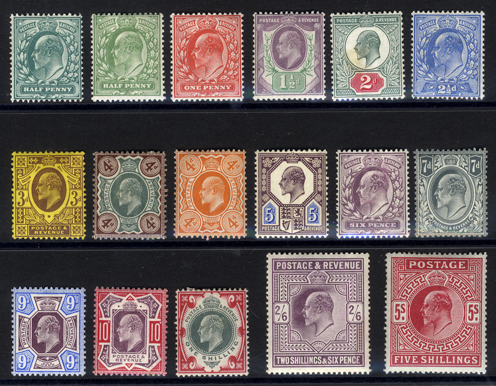 1902 DLR set (all values up to 5s) MINT