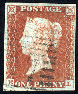 1841 1d red-brown - Plate 51 EL