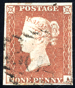 1841 1d red-brown - Plate 90 PA