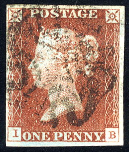 1841 1d red-brown - Plate 41 IB