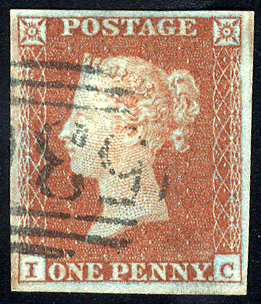 1841 1d red-brown - Plate 125 IC