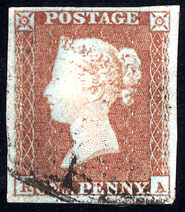 1841 1d red-brown - Plate 66 RA