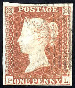 1841 1d red-brown - Plate 119 PL