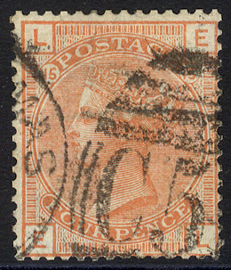 DANISH WEST INDIES - St. Thomas 1876 4d vermilion