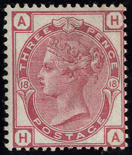 1875 3d rose Pl.18, fresh M example with large part o.g