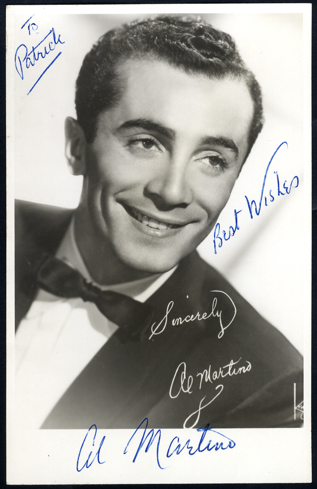 MARTINO AL, 1927-2009 American singer & actor - signed photograph